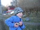 Lillebror med småsei fra Nærsnesbukta